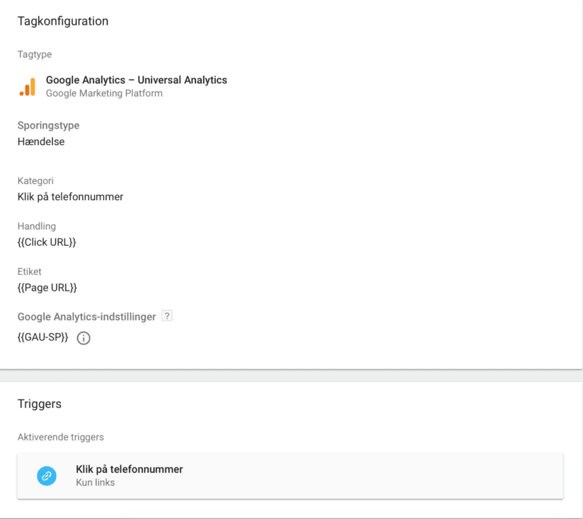 Tagkonfiguration i Google Tag Manager