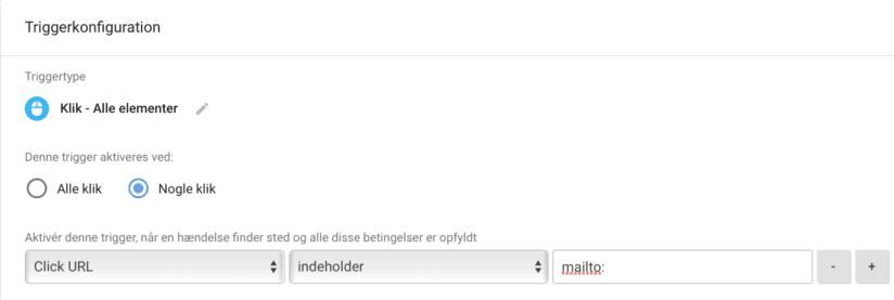 Opsætning af sporing på klik på mailadresser i Google Tag Manager