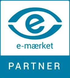 Vi er stolte af at kunne kalde os e-mærket partner.